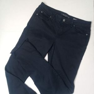 Level 99 Lily Skinny Straight Ink blue pant Sz 28